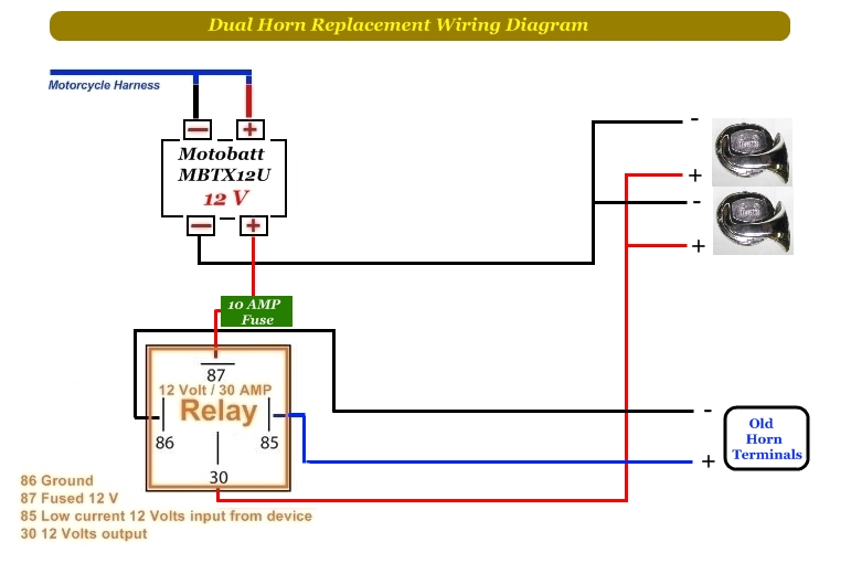 3 Horn Relay Wiring Diagram | Wiring Diagram  Pin Horn Relay Wiring Diagram on