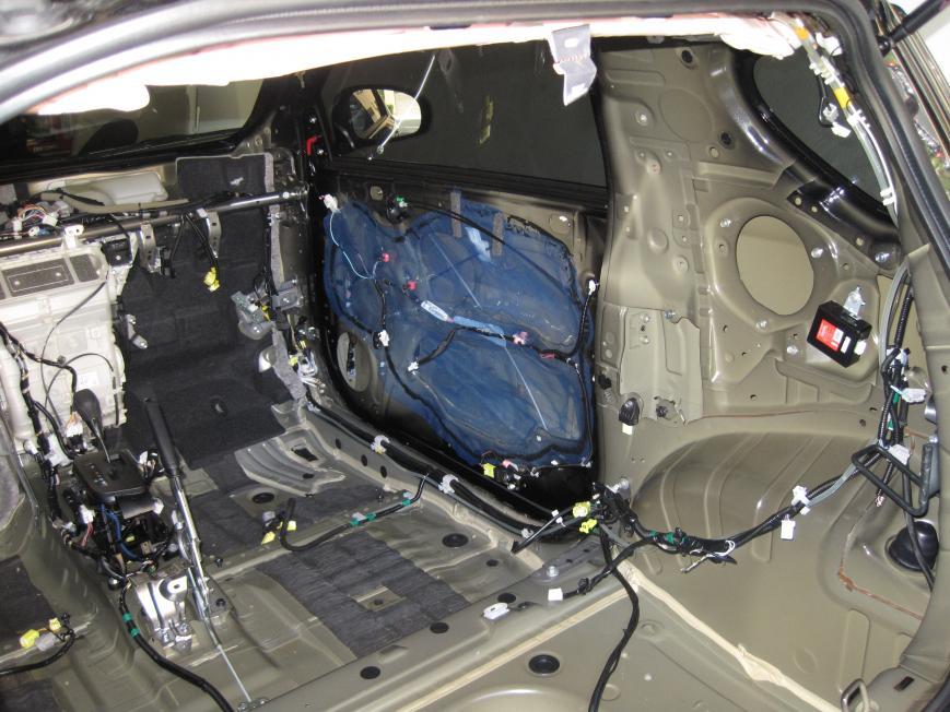 Interior Stripped Adding Sound Dampening Speakers Amp