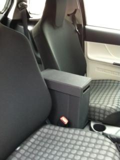 Storage box between the seats