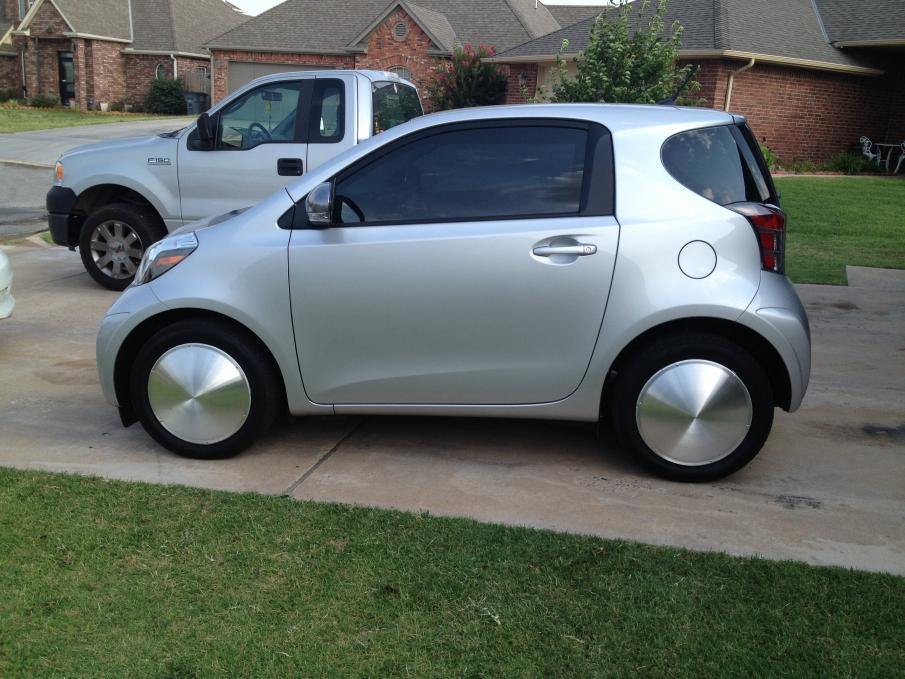 Moon Hubcaps On Scion Iq